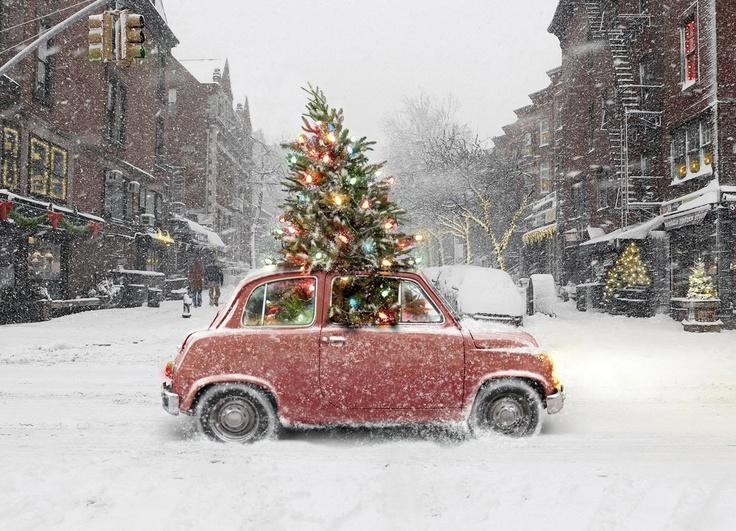 Exemple de voiture à Noël